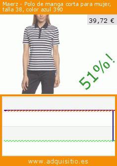 Maerz - Polo de manga corta para mujer, talla 38, color azul 390 (Ropa). Baja 51%! Precio actual 39,72 €, el precio anterior fue de 81,75 €. https://www.adquisitio.es/maerz/polo-manga-corta-mujer-5