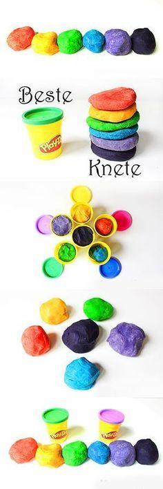 Das beste Rezept für Knete Knete selber machen The best DIY Playdough Recipe The best recipe for kneading dough yourself Play Doh, Diy For Kids, Crafts For Kids, Slime For Kids, Diy Bebe, Diy Toys, Kids And Parenting, Parenting Ideas, Kids Playing