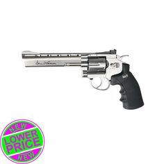 "Dan Wesson Airsoft Revolver 6"" Silver 