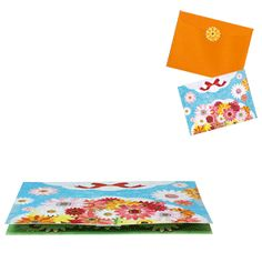 Pop-up Card (Gerbera) - Others - Craft Cards - Gift & Card - Canon CREATIVE PARK. Click on the link for the free template. http://cp.c-ij.com/en/contents/3205/pop-up-gerbera/index.html