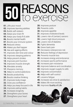 This picture has many reasons to work out. And it helps you understand how important working out is.