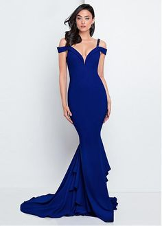 #Dressilyme - #Dressilyme Dressilyme Sophisticated Acetate Satin Spaghetti Straps Neckline Mermaid Evening Dresses With Beadings - AdoreWe.com
