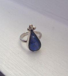 Pear Shaped Labradorite Ring of Protection and Balance | Katrinaalexa - Jewelry on ArtFire
