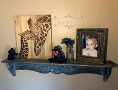 Giraffe/Giraffe Baby/Modern Nursery/Giraffe Wall Decor/Safari Room Decor/Giraffe Nursery/Wood Sign/Rustic Decor/Handmade/Baby Shower Gift Inspired by one of my favorite giraffe photograph, I couldnt resist preserving the Mama & Baby Giraffe wall art. There is something so special about a giraffe. They are peaceful and calming, which is why it makes such a great fit for a safari nursery; or any room for that fact! This peaceful giraffe with her ...