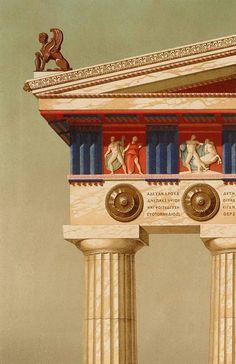 Ancient Greek Doric Temple Column