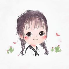 Photo To Cartoon, Cartoon Girl Images, Cute Cartoon Pictures, Cute Cartoon Drawings, Cute Cartoon Girl, Cute Love Cartoons, Cartoon Girl Drawing, Cartoon Sketches, Baby Cartoon