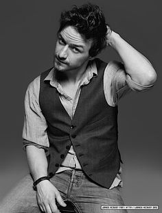 So what if he has the facial hair of a greasy seventh grader. Mr McAvoy can focus those gorgeous eyes on me any day.