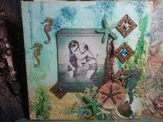 Oz Paper Scrap Art: Best FriendS PostCard on Canvas