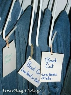 Labeled Hangers for Similar Clothing Items - Top 58 Most Creative Home-Organizing Ideas and DIY Projects