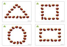 Capture décran à 18 Autumn Activities For Kids, Fall Preschool, Kindergarten Crafts, Math For Kids, Toddler Preschool, Preschool Activities, Crafts For Kids, Montessori Trays, Montessori Classroom