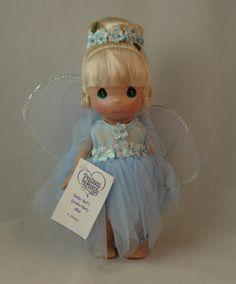 "Tinker Bell's Garden Party Blue Dress 9"" Doll Precious Moments 3454 Disney Parks #PreciousMoments"