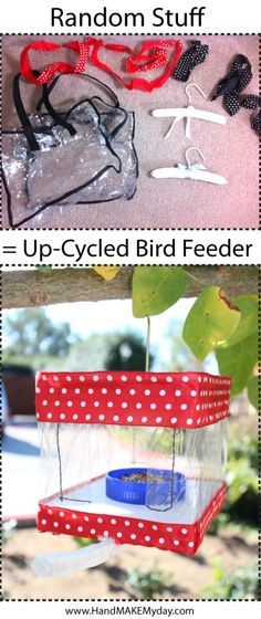 The Blah To Bling upcycled bird feeder Man Crafts, Diy Arts And Crafts, Easy Crafts For Kids, Crafts To Make, Reuse Recycle, Upcycle, Nature Crafts, Recycled Crafts, Bird Feeders