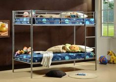 Our twin sleeper is the perfect addition to child's bedrooms. Perfect if you need to save space. The top and bottom bunks are both standard Single beds. Twin sleepers are great Bunk Beds Uk, Bunk Beds For Boys Room, Childrens Bunk Beds, Adult Bunk Beds, Metal Bunk Beds, Modern Bunk Beds, Kid Beds, Single Bunk Bed, King Platform Bed