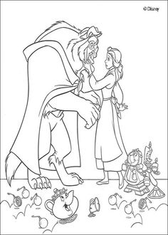 We have a collection of Beauty And The Beast Coloring Pages hopefully the kids…