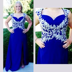 Royal blue new gown! Size XL.   Available at Bling It On Dress Rentals in Riverton, Ut. Find us on fb and insta @blingitondressrentals   Contact us at 8018084656 or 8019797467