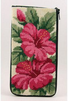 Stitch & Zip Needlepoint Eyeglass Case Kits-Variety of Styles-Floral II Cross Stitch Rose, Cross Stitch Flowers, Cross Stitch Embroidery, Crochet Stitches Patterns, Cross Stitch Patterns, Easy Stitch, Tapestry Crochet, Needlepoint Kits, Toy Craft