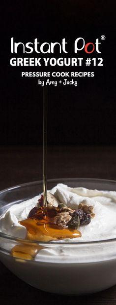 Foolproof Instant Pot Greek Yogurt Recipe #12 (Pressure Cooker Greek Yogurt): Step-by-Step Guide on how to make thick creamy homemade Greek yogurt. Recipe developed based on 12 experiments. via @pressurecookrec
