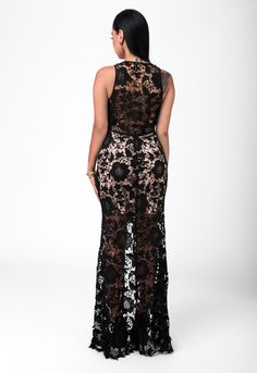 Chic Couture Online - Bettina Black Crochet Lace Nude Slit Front Maxi Dress.(http://www.chiccoutureonline.com/bettina-black-crochet-lace-nude-slit-front-maxi-dress/)