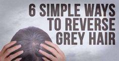 6 Simple Ways To Reverse Grey Hair