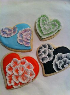 Embroidered flowers, Heart cookies and Puzzles on Pinterest