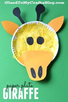 Paper Plate Giraffe - Kid Craft & Paper Plate Tiger - Kid Craft | Tigers Craft and Zoos