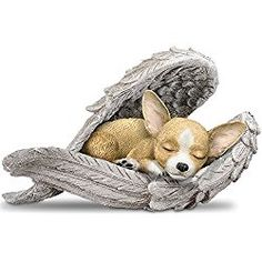 Blake Jensen Chihuahua Leave Paw Prints On Our Hearts Wrapped In Angel Wings Figurine by The Hamilton Collection