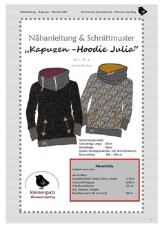 Baby Knitting Patterns Hoodie Sewing instructions and patterns hoodie with hood 'Julia' – sewing instructions at … Baby Knitting Patterns, Sewing Patterns, Crochet Patterns, Sewing Clothes, Diy Clothes, Dress Sewing, Clothing Patterns, Dress Patterns, Clothing Ideas