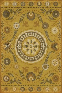Spicher and Company Vintage Vinyl Floor Cloths The Sun Shines On Rugs | Rugs Direct