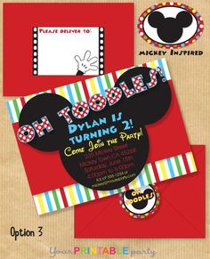 mickey mouse clubhouse party invites. Oh toodles!