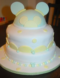 Littlemrscupcake@Yahoo.com  Mickey Baby Shower Themed Cake