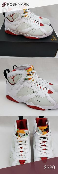 Nike Air Jordan VII Retro 7 Hare Bugs Bunny Nike Air Jordan VII Retro 7 Hare Bugs Bunny White Red 304775-125 Size 7.5 Brand: Nike Name: Air Jordan VII Retro 7 Hare Colorway: White Red Style Code: 304775-125 Year of Release: 2015 Size: 7.5 Condition: Brand new with box. Box top is missing. Included Accessories: NA Additional Information: 100% authentic merchandise or your payment will be refunded in full. Air Jordan Shoes Athletic Shoes