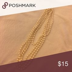 "Long (60"") single strand of large faux pearls 60"" single strand of page faux pearls. Excellent for layering, as seen here. Jewelry Necklaces"