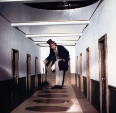 The hallway of doors could go through a shift in perspective similar to Willy Wonka and the Chocolate Factory. Everlasting Gobstopper, Wonka Chocolate Factory, The Rocky Horror Picture Show, Small Doors, Willy Wonka, Roald Dahl, Film Stills, Halloween Themes, I Movie