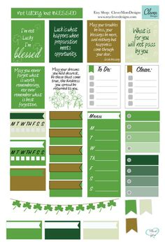 Not Lucky But Blessed Planner Stickers by CleverMomDesigns on Etsy