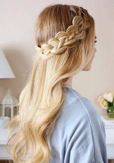 Long Wedding & Prom Hairstyles via Missysueblog / http://www.deerpearlflowers.com/wedding-prom-hairstyles-for-long-hair/