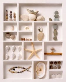 Coastal Inspired Living with Decor, Crafts and more.: Sea Treasures in a Shadow Box