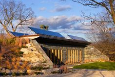 Solar-Powered, Carbon Neutral Earth-Bermed House is Made Entirely Out of Recycled Materials