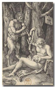 Albrecht Dürer (1471-1528) - La Famille du Satyre, 1505, gravure, collection privée