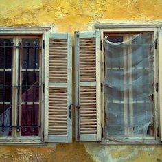 #window #yellow #pane #neoclassic #abandoned #shutter