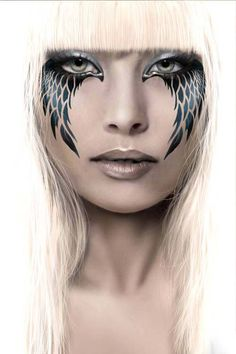 Black wings makeup
