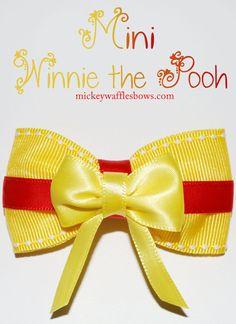 Disney Winnie the Pooh Hair Bow by MickeyWaffles on Etsy, $3.00