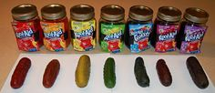 Ingredients 1 jar (32 ounces) whole dill pickles, undrained 2/3 cup sugar You can also try it without sugar 1 envelope unsweetened Kool-Aid mix, flavor of your choice  Click here for directio…