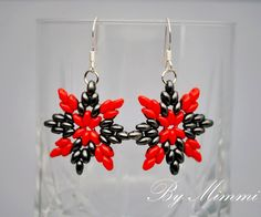 Free pattern for earrings Carmen with super duo Click on link to get pattern - http://beadsmagic.com/?p=6469