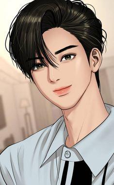 Handsome Anime Guys, Cute Anime Guys, Anime Boys, Girl Cartoon, Cartoon Art, Suho, Anime Korea, Angel Wallpaper, Kpop Drawings