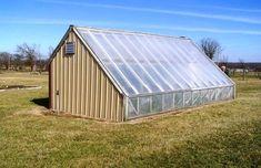 Chinese passive solar greenhouse - exterior