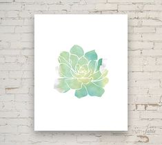 Succulent Watercolor DIY Art Print by truthandfable on Etsy, $5.00 #truthandfable #etsy #print