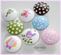 knobs for nursery Hand Painted Dressers, Kids Dressers, Painted Drawers, Knobs And Handles, Knobs And Pulls, Drawer Pulls, Dresser Knobs, Dresser Drawers, Chalk Paint Projects