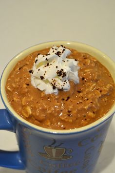 Scrumptious Overnight Oatmeal (E) in 5 flavors: Chocolate Peanut Butter Pudding, Blueberries 'n' Crème, Banana Bread Batter, Apple Pie, and Café Mocha (pictured).  Super-quick and super-yum! café mocha, blueberry banana bread, healthi, thm overnight oatmeal, scrumptious overnight, chocolate peanut butter, thm blueberry, cafe mocha overnight oats, apple pies