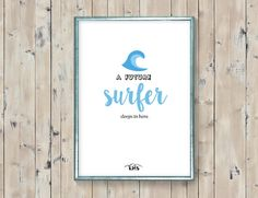 Little surfer quote. Blue surf babyboy by KeepMakingSmiles on Etsy