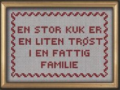 Bilderesultat for god jul korssting Cross Stitch Embroidery, Needlework, Diy And Crafts, Projects To Try, Diagram, Humor, Words, Creative, Prints